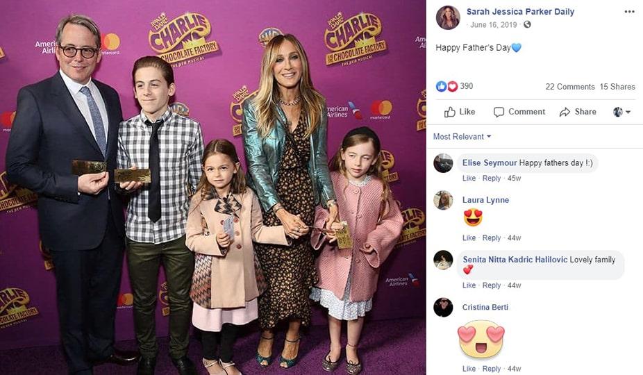sarah jessica happy family
